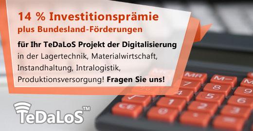 TeDaLoS Investitionsprämie